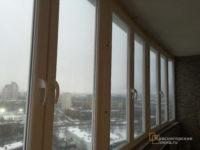 Остекление балконов и лоджий, обшивка - красногорские окна.